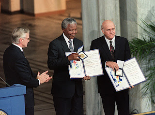 Receiving the Nobel Peace Prize