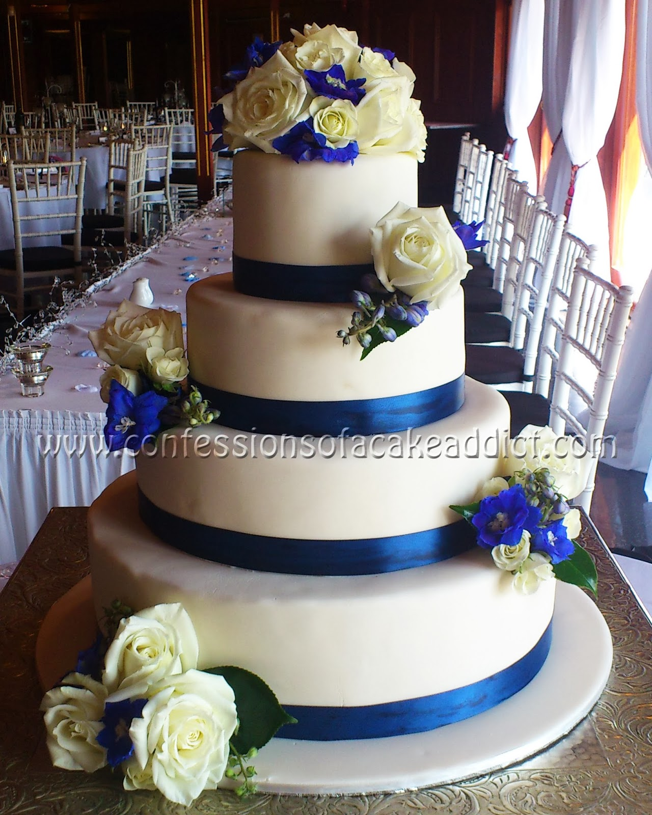 pictures of blue and white wedding cakes blue and white wedding cakes fashion dresses 18393