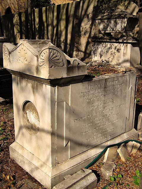 Tomb of Francis Horner, Old English Cemetery, Livorno
