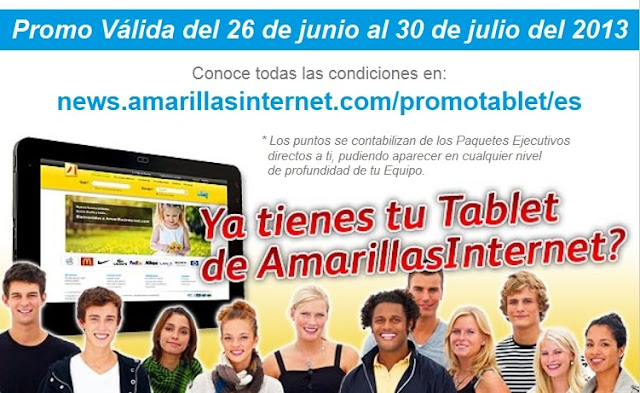 Promocion Amarillas Internet.Tablet