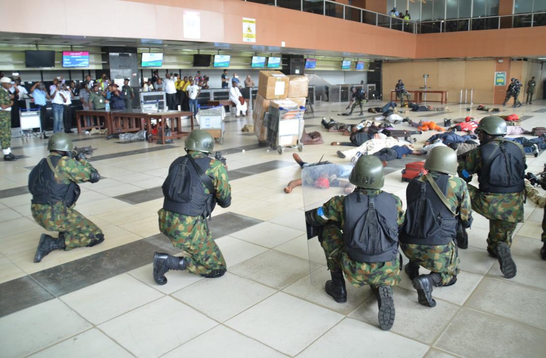 VIDEO:Anti-terrorism Scene at the Muritala Muhammad ...