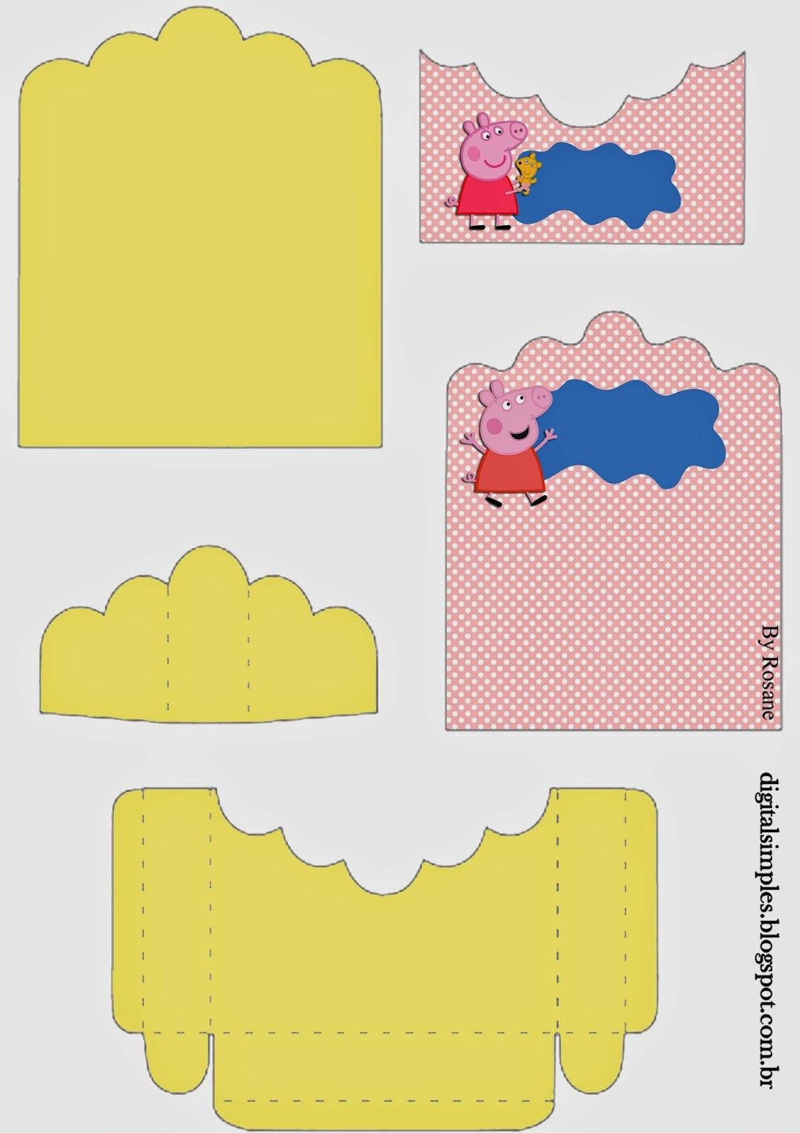 Peppa Pig: Soporte para Golosinas para Imprimir Gratis.