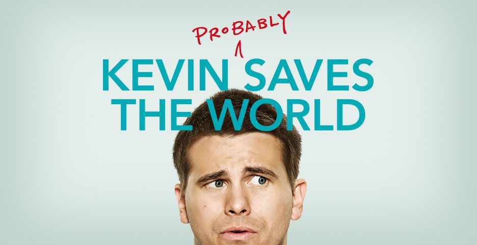 Jason Ritter en el poster promocional de Kevin (Probably) Saves the World