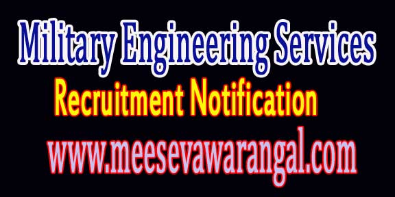 MES (Military Engineering Services) Recruitment Notification 2016