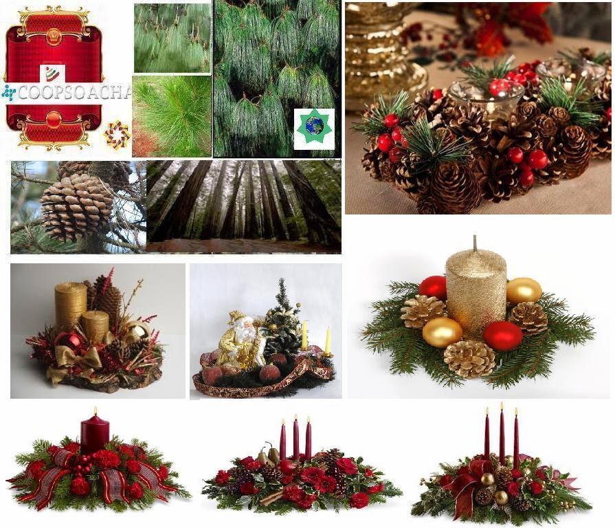 Imagenes de arreglos para navidad - Centro de mesa navideno manualidades ...