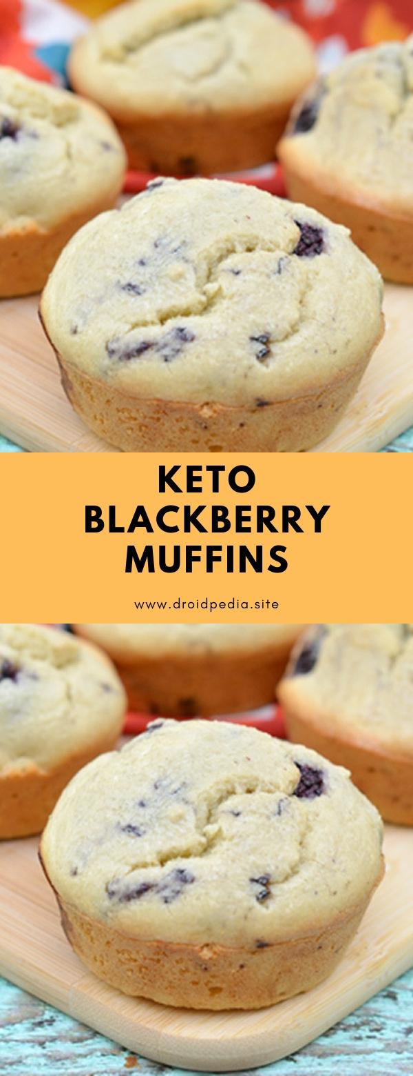 KETO BLACKBERRY MUFFINS #dessert #keto #lowcarb