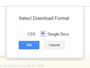 pilih format download