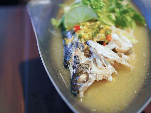 Steam Fish with Hot Lemon Sauce singapore