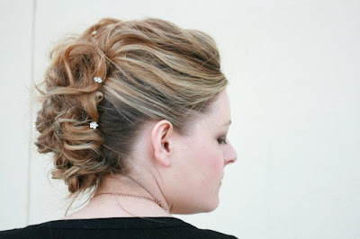 Wedding trial in Aberdeen, textured bridal hair with pins