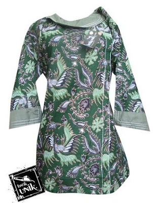 Blus Batik Kancing Samping