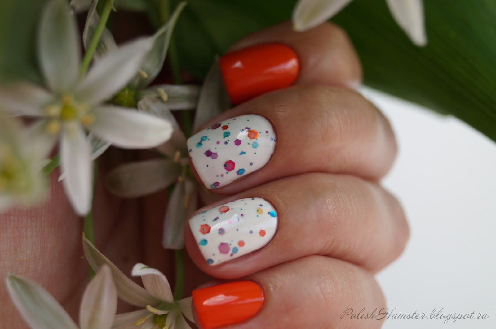"Kiko 280 ""Orange"" + KBShimmer ""Full blom ahead"""