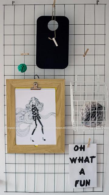 Estrichmatte als Wanddeko, Klemmbrett Ikea, Wanddekoration