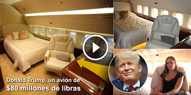 Let's Take a Look in Donald Trump's £80million jet—complete with a GOLD bathroom and a Cinema!