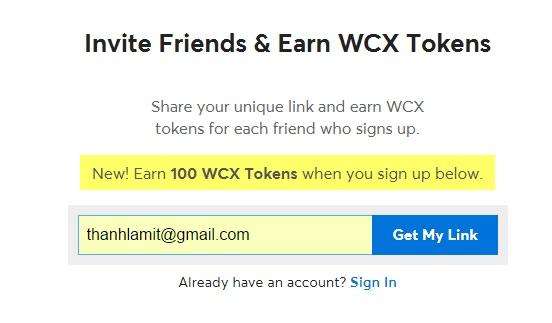 Free WCX Coin