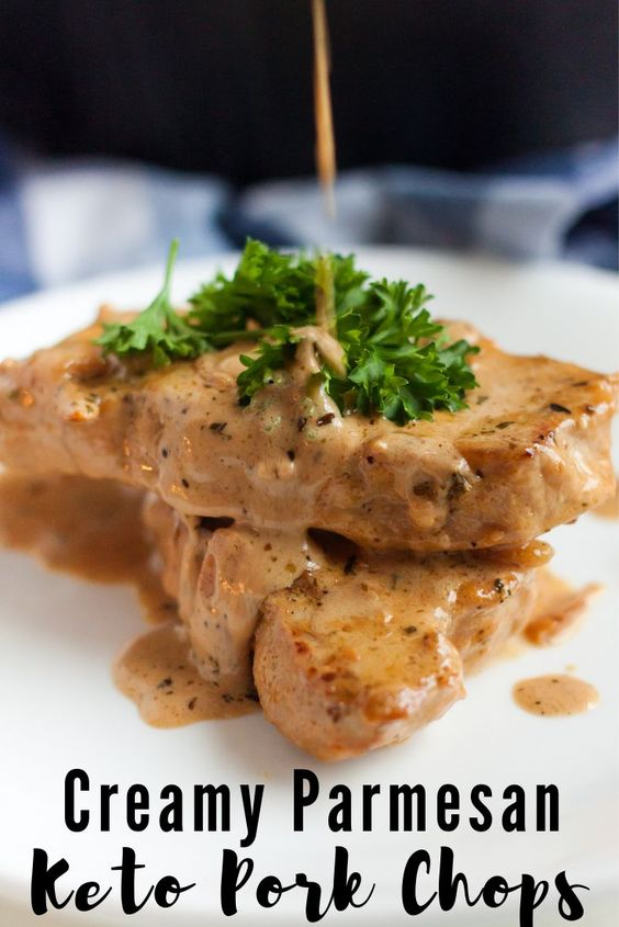 Creamy Parmesan Pork Chops (Keto / Low Carb)