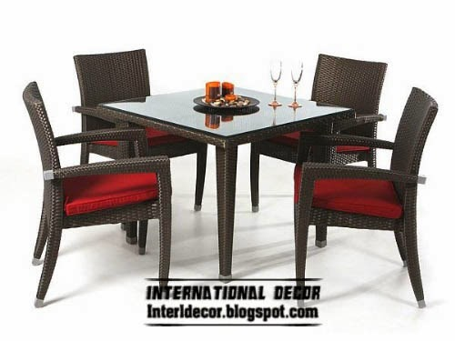 modern outdoor dining furniture set,plastic table and chairs