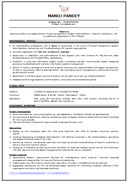 Embedded Resume Format   Resume Format      VisualCV Related Free Resume Examples