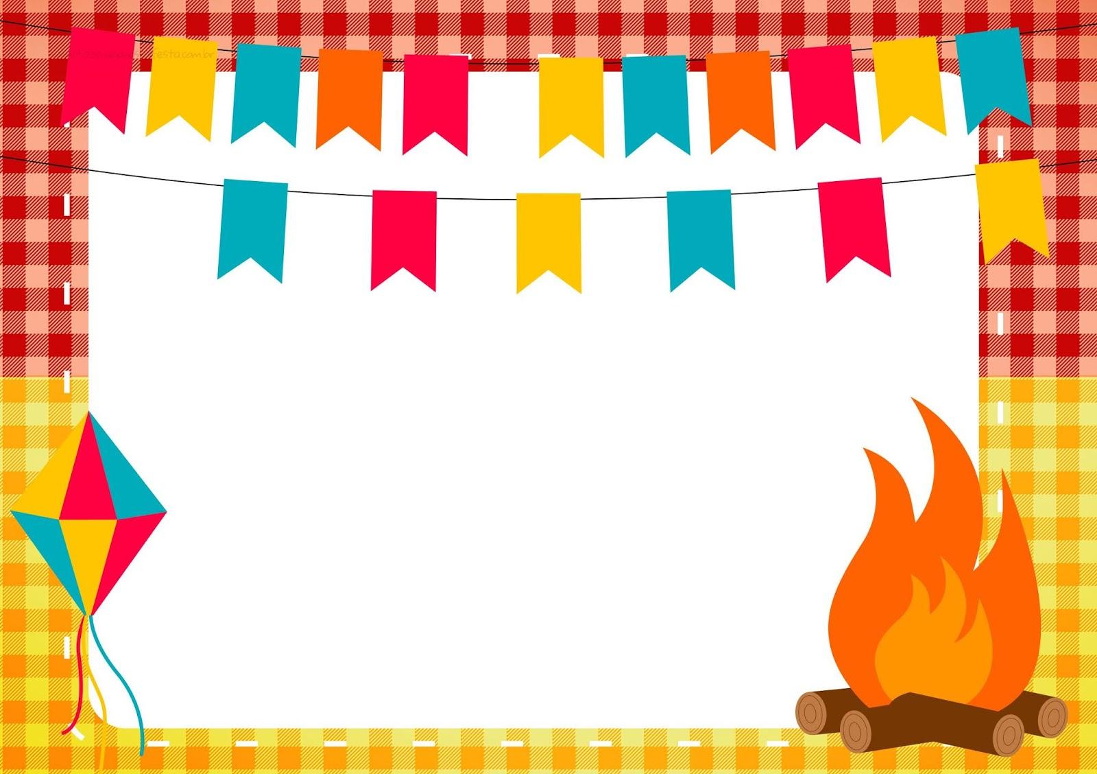 Bau Da Web Festa Junina Convites Para Imprimir