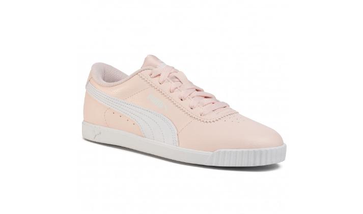 Sneakers PUMA dama roz din piele intoarsa eco originali la pert mic