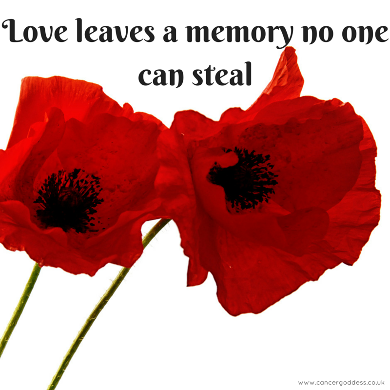 Love leaves a memory no one can steal - CancerGoddess.co.uk
