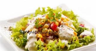 salad sayuran saus mayonaise