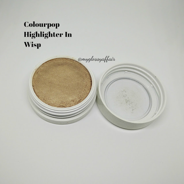 Colourpop Super Shock Cheek Highlighter in Wisp Review, Swatches and FOTD