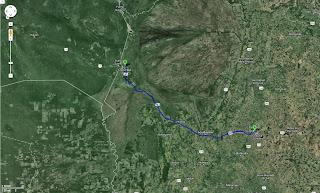 Trajeto detalhado de Campo Grande/MS/Brasil a Corumbá/MS/Brasil - 425 km.