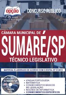 Apostila Técnico Legislativo Câmara de Sumaré (SP)