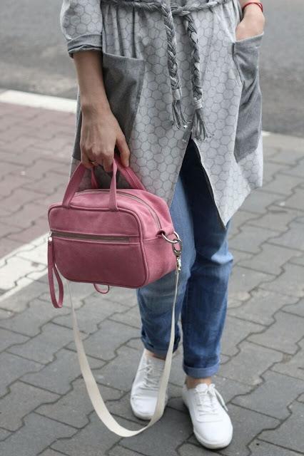 wiosenne dodatki, kardigan, Novamoda streetstyle, osobista stylistka poznan, pastelowa torebka, poznań streetstyle