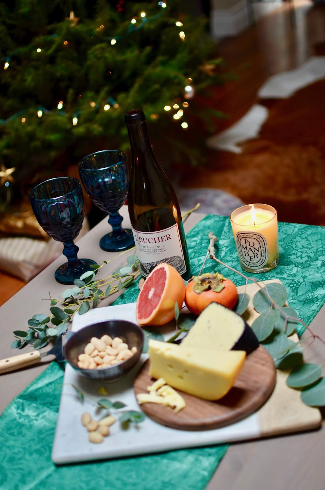 Allergic to Vanilla- San Francisco lifestyle blog, how to entertain for the holiday, J. Bucher wines