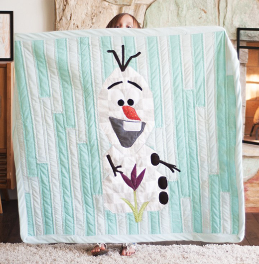 Olaf Frozen Quilt Free Pattern