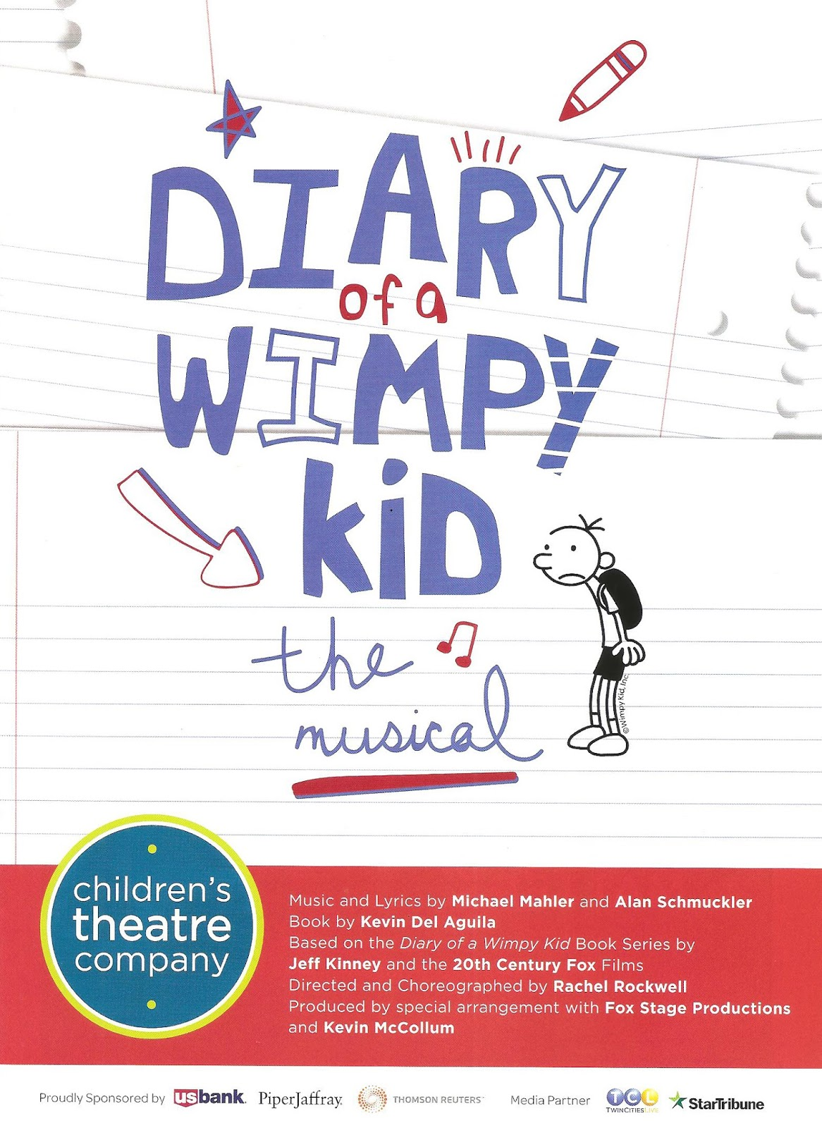 Cherry and spoon diary of a wimpy kid the musical at childrens diary of a wimpy kid the musical ive got an animal heart for you even though i have no familiarity with the successful book series or movies solutioingenieria Image collections