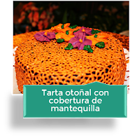 TARTA OTOÑAL CON COBERTURA DE MANTEQUILLA