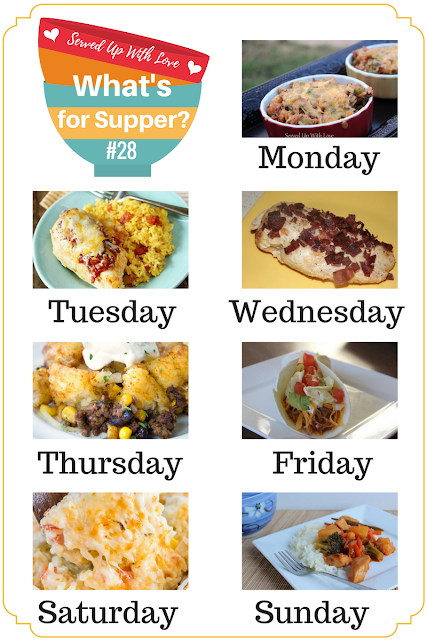 Mexican Tater Tot Casserole, Cheesy Salsa Chicken and Rice, Pepper Jack Rice Bake, Sweet 'n Sour Chicken, and more at What's for Supper Sunday.