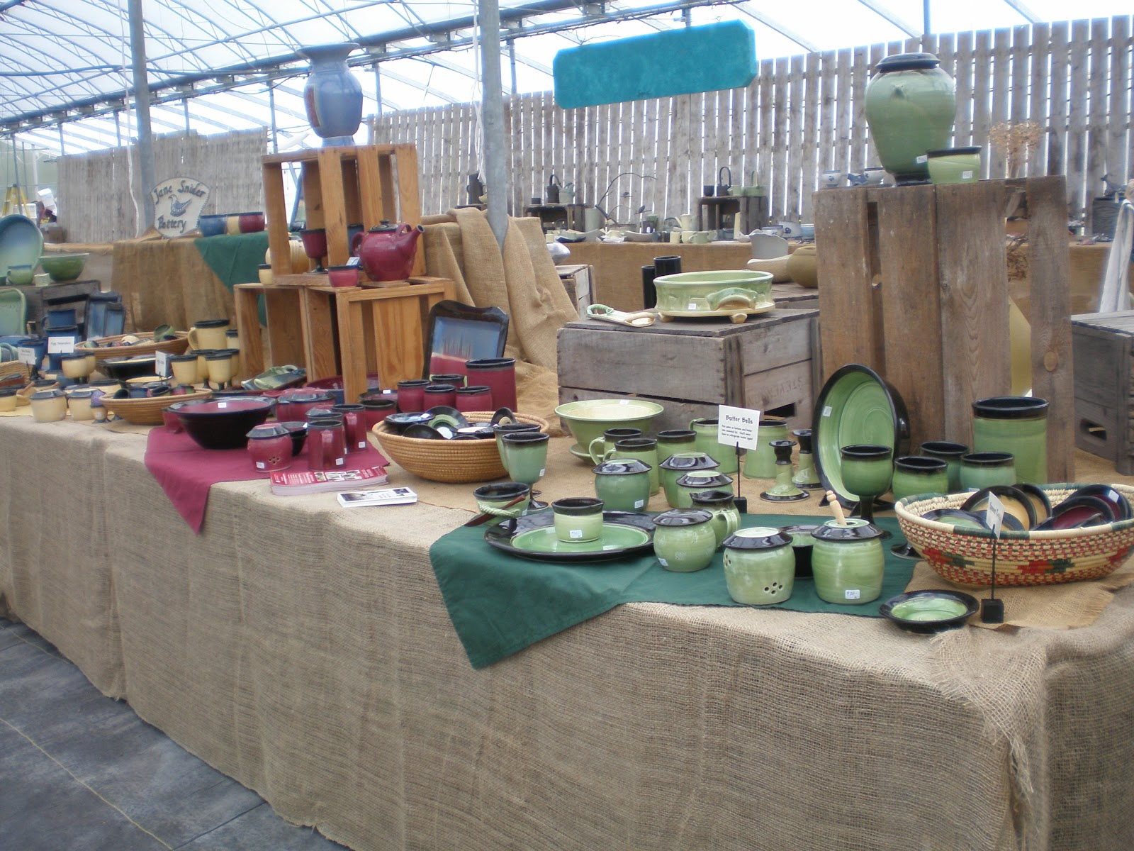 Country Harvest Pottery Show happening on October 11, 2014
