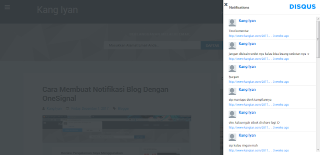 Cara Membuat Recent Comment Disqus