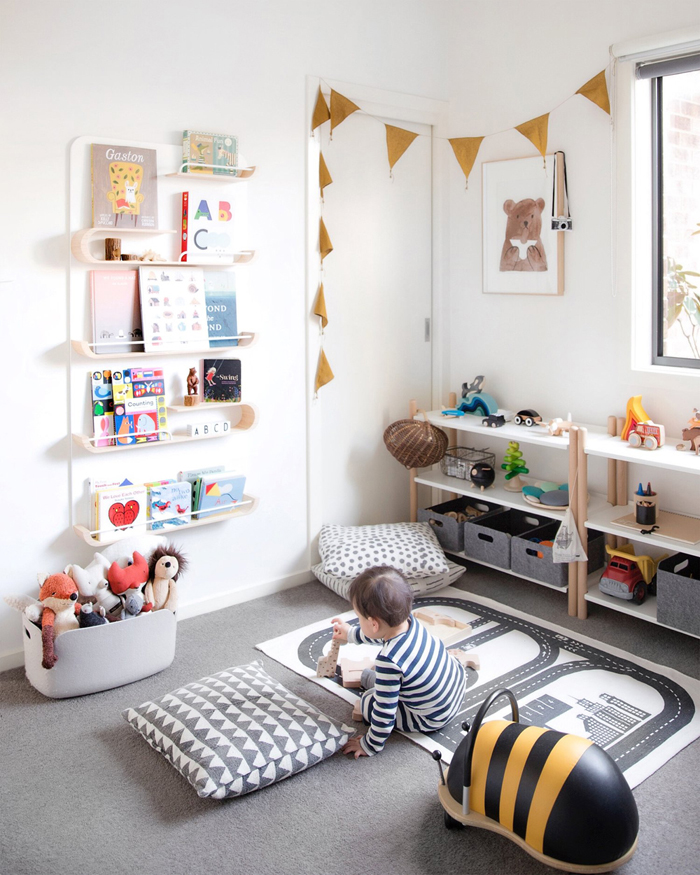 Playroom with XL shelf white  from Rafa-kids