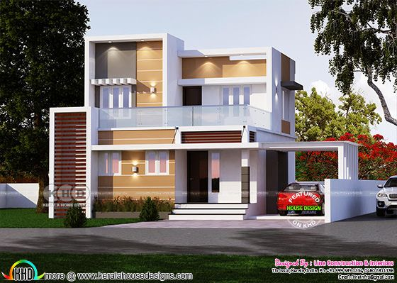 1265 square feet modern box type 4 BHK house