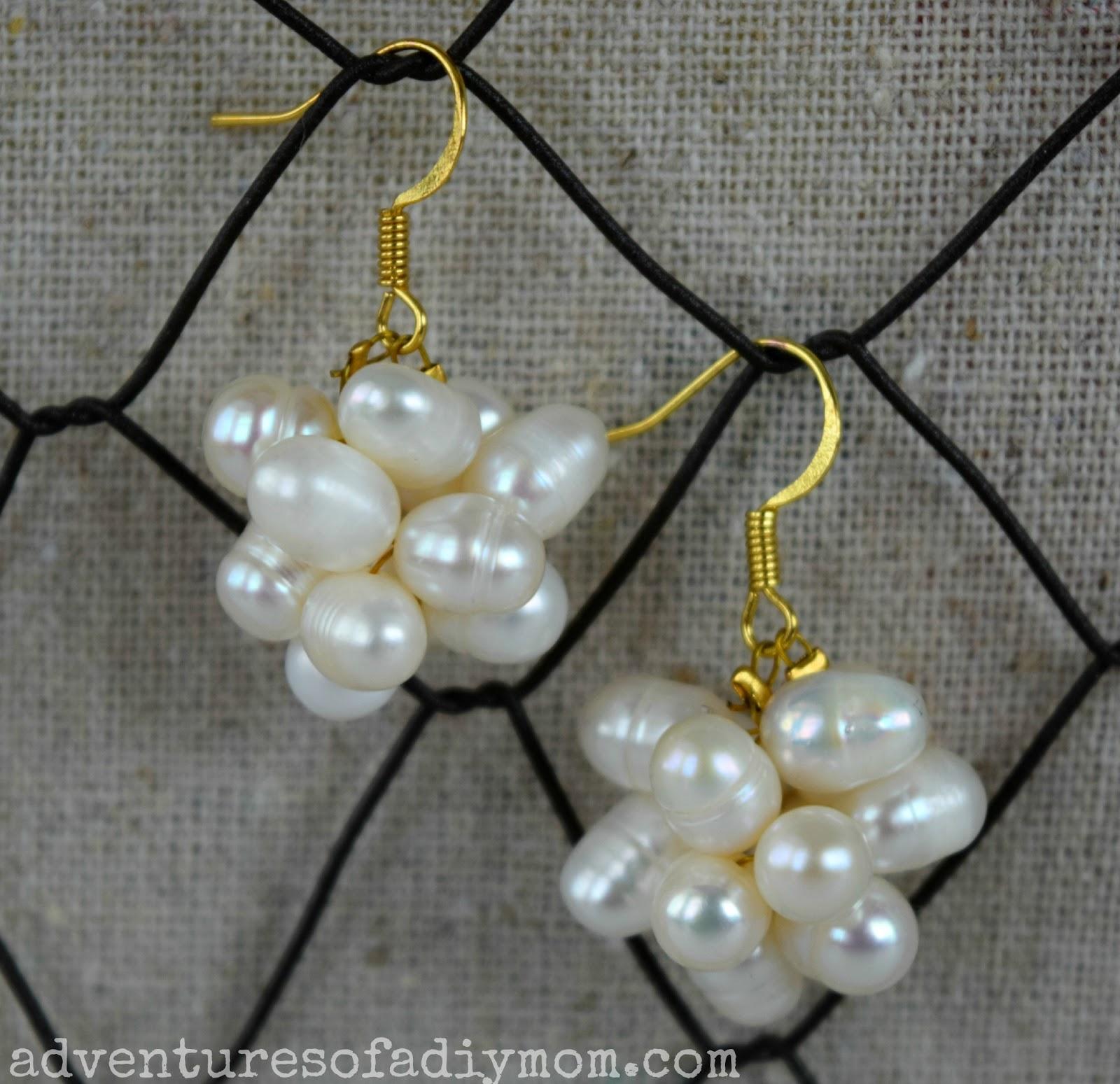 DIY Pearl Cluster Earrings