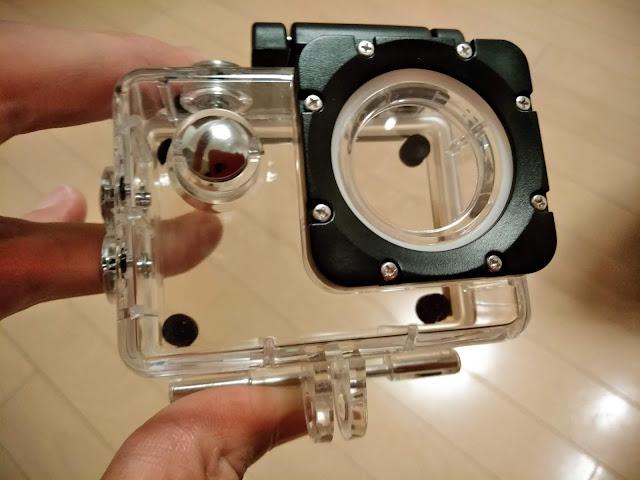 アクションカメラの防水ケースの写真