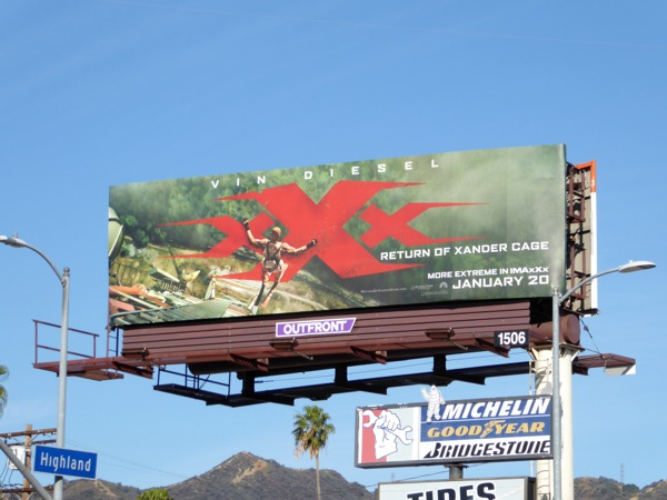 XXX Return of Xander Cage film billboard
