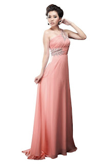 one shoulder unique long prom dresses for women