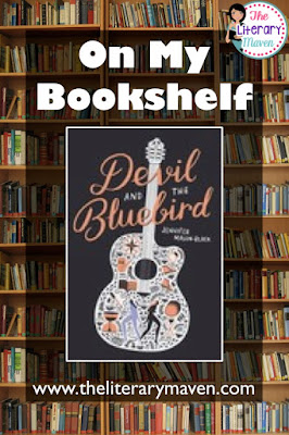 n Devil and the Bluebird by Jennifer Mason-Black, Blue's mother is deceased, her father was just a sperm donor, her sister Cass took off two year ago, her former best friend doesn't understand her and her old boyfriend is no longer of interest to her. When Blue hasn't heard from Cass in far too long, she makes a deal with the devil, trading her voice for the ability to track down her sister, a journey that will take her across the country and into contact with an array of characters, some good, some evil, and some somewhere in between. Read on for more of my review and ideas for classroom use.