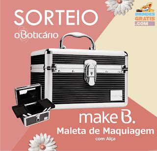 SORTEIO - MALETA DE MAQUIAGEM MAKE B. O BOTICÁRIO