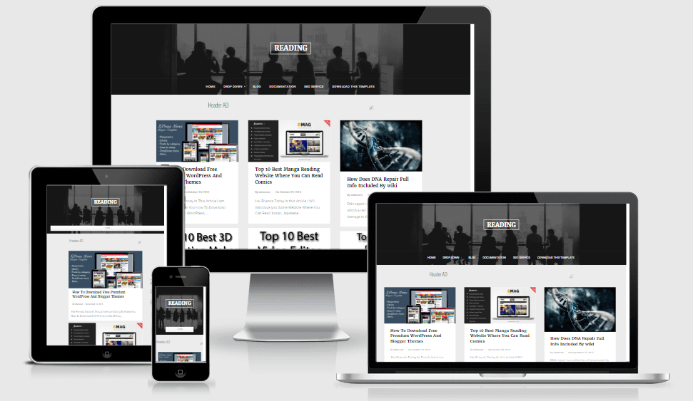 Reading - Responsive Personal Portfolio Blogger Template