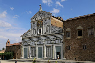 The Basilica di San Miniato at Monte is a Romanesque  church standing at one of the highest points in Florence