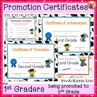 Certificate of Achievement for 1st Grade