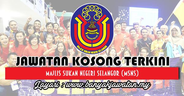 Jawatan Kosong 2018 di Majlis Sukan Negeri Selangor (MSNS)