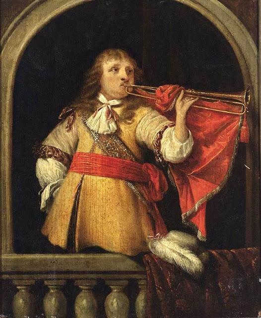 Anthonie Palamedesz - Un heraldo soplando la trompeta - s. XVII