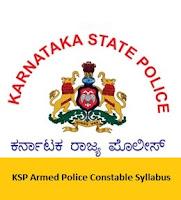 KSP Armed Police Constable Syllabus
